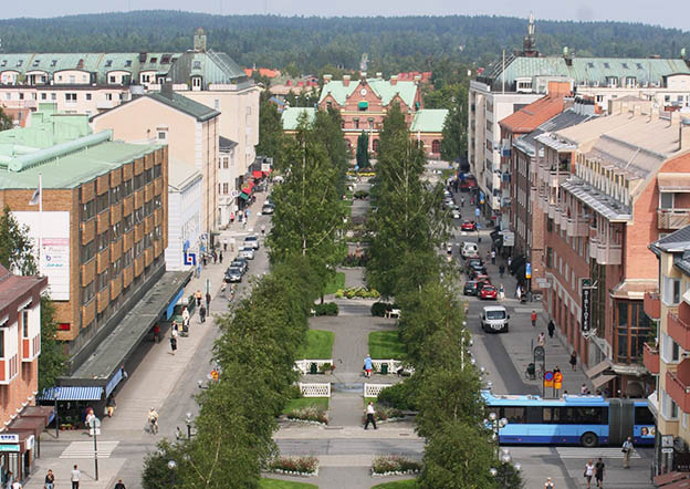 Image result for 10 مدن لا ترى الشمس مدينة (أوميو) في السويد