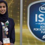 الطالبة سارة بنت احمد الربيعة تفوز بجائزة انتل اسيف 2017