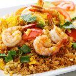 الأرز بالجمبري والخضروات بالطريقة التايلاندية