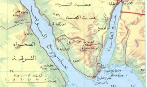 خريطة توضح قرب الجزيرتين للسعودية