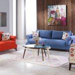 غرفة معيشة بألوان زاهية - 494959