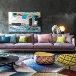 غرف معيشة مودرن ملونة