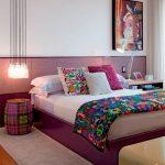 غرفة نوم باللون البنفسجي - 494868