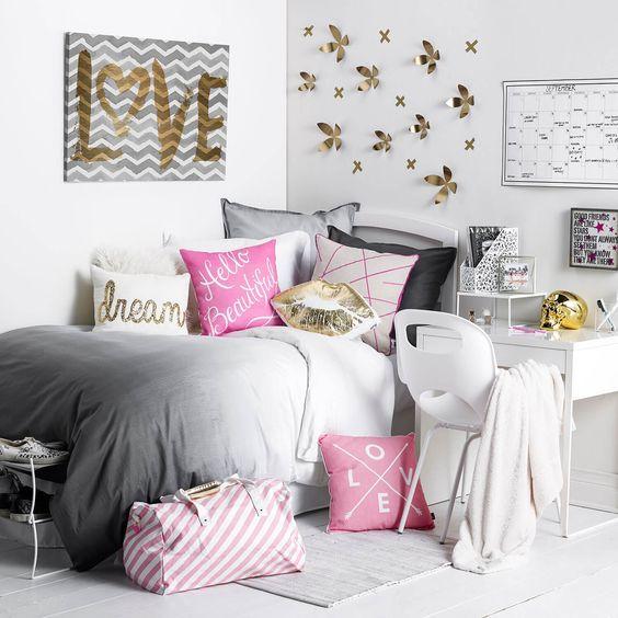 غرفة نوم باللون الرمادي | المرسال