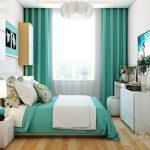 غرفة نوم باللون الفيروزي في ابيض - 494898