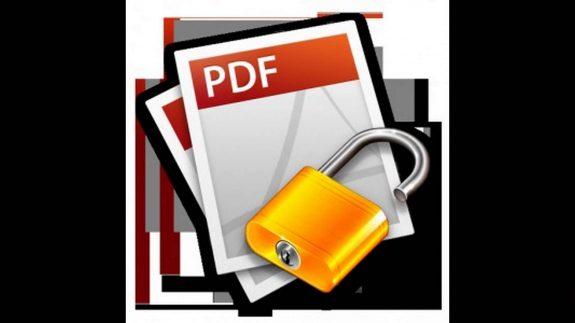 ازالة الحماية من ملف pdf