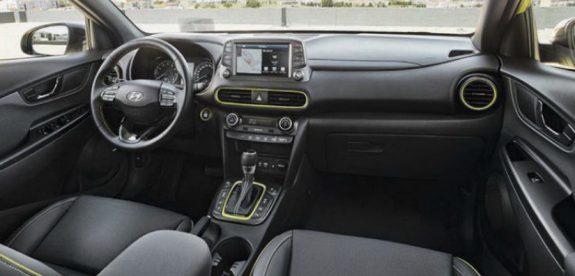 شاشة ملاحة و كونسول وسطي مميز للسيارة هيونداي كونا 2018