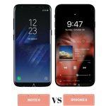 مقارنة بين iPhone 8 و Galaxy Note 8