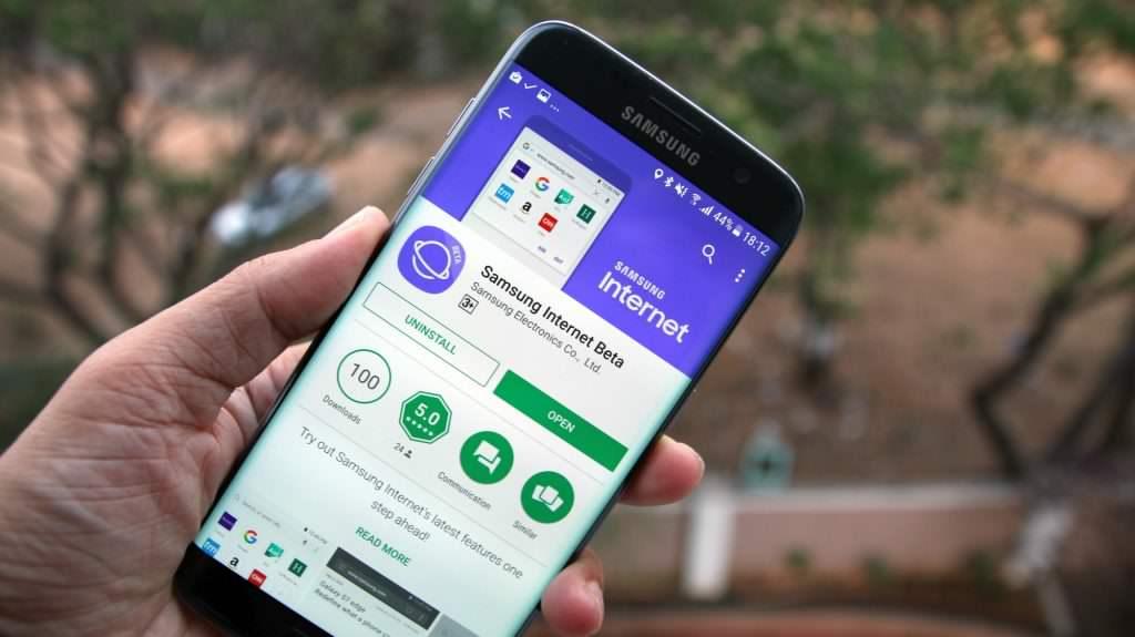 تطبيق Samsung Internet Beta من جوجل بلاي