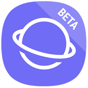 شعار تطبيق Samsung Internet Beta