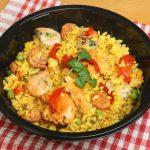 طريقة عمل الأرز بالجمبري وقطع الدجاج