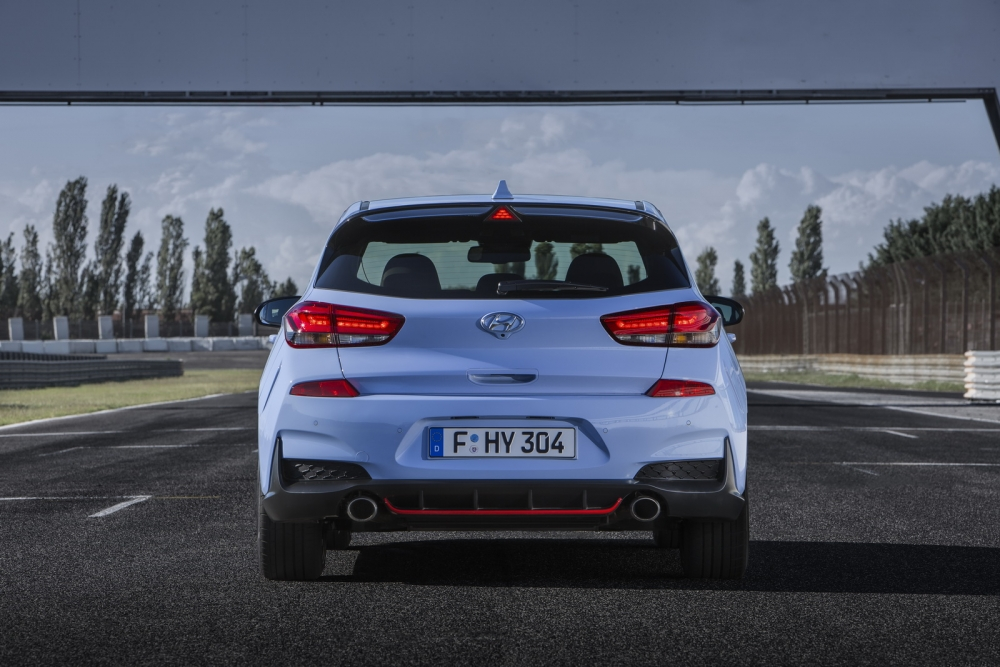 التصميم الخلفي الرياضي للسيارة الجديدة هيونداي I30 N 2018