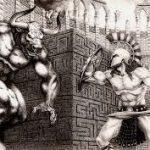 ثيسيوس و مينوتور من أساطير الإغريق