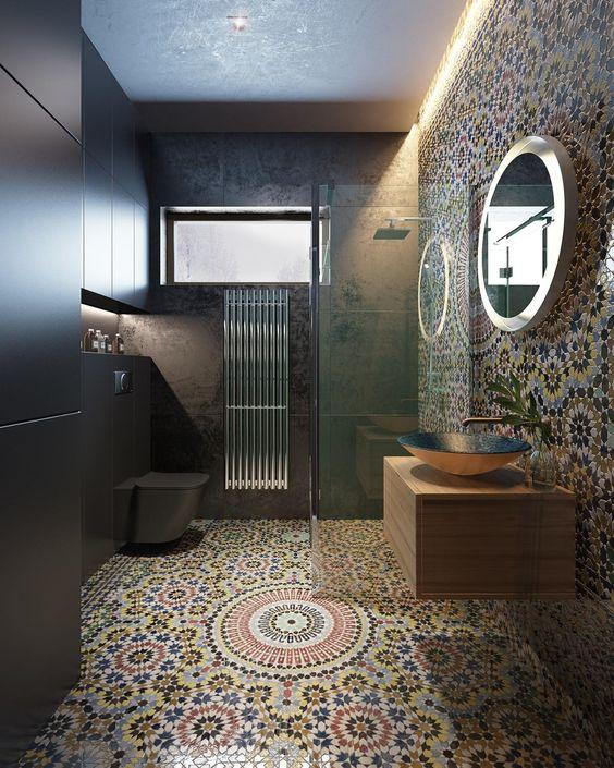 حمام صغير على الطراز المغربي