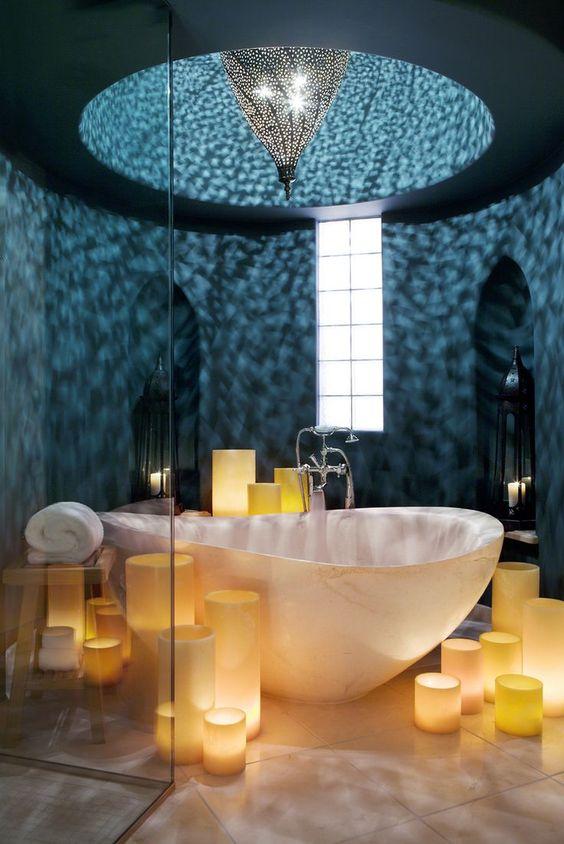 حمام مضيء