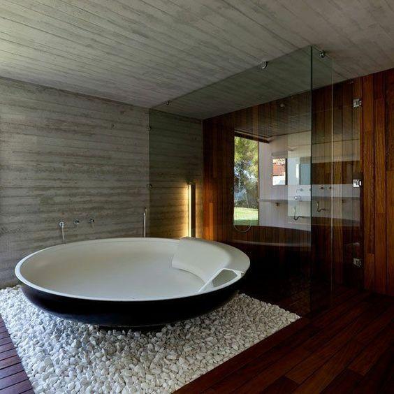 حوض استحمام دائري