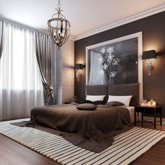 غرفة نوم باللون البني | المرسال