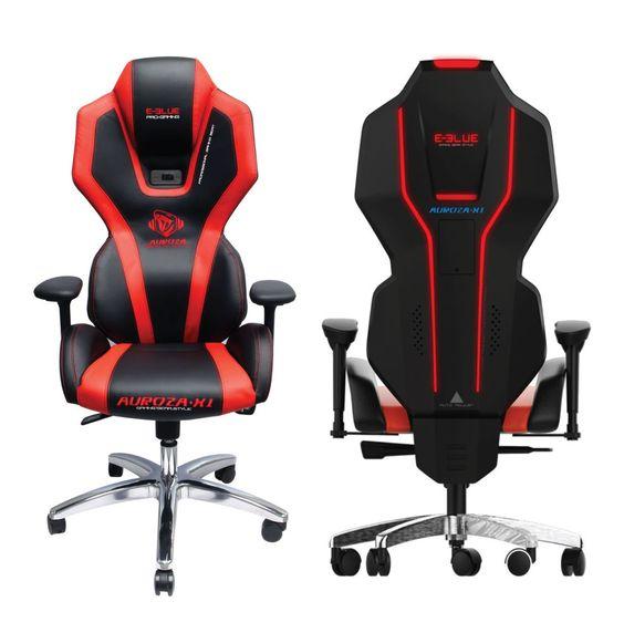 كرسي باللون الأسود و الأحمر