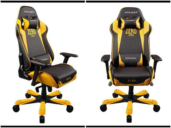 كرسي باللون الأسود و الأصفر