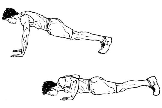 تمرين الضغط ذراع متباعد