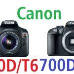 مقارنة بين كاميرا كانون Canon 1300d vs 700d