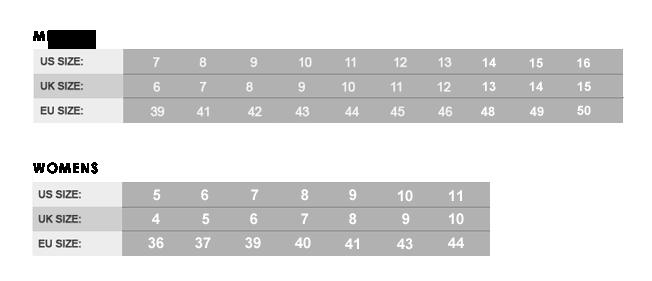 90fe3e6e1 جدول توضيح مقاسات الأحذية للمعيار الأوروبي والأمريكي | المرسال