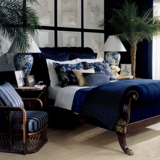 غرفة نوم باللون الكحلي | المرسال
