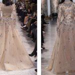 فستان انيق مصنوع من طبقات التل - 516621