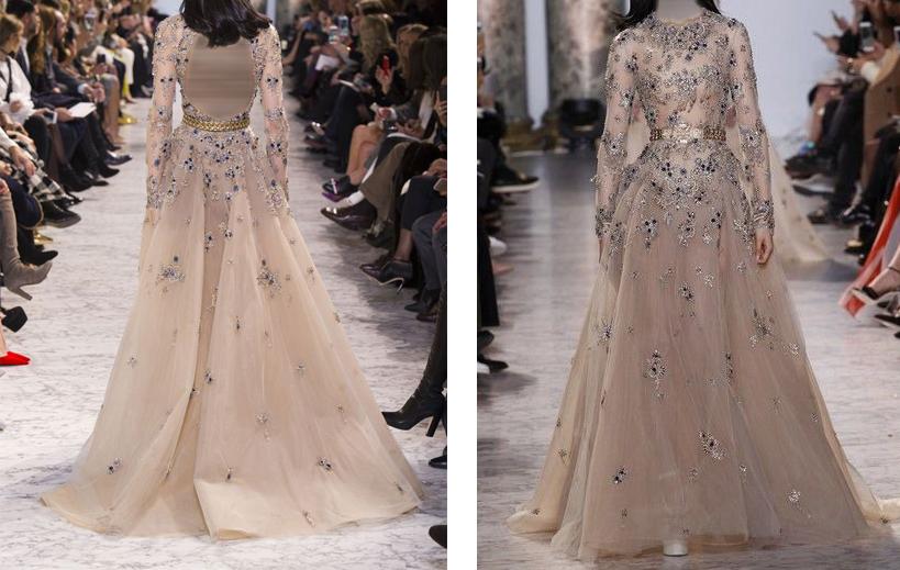 فستان انيق مصنوع من طبقات التل