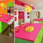 مطابخ عصرية ملونة