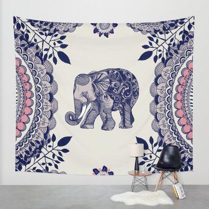 مفرش برسمة فيل