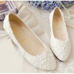 موديلات أحذية فلات و عصرية للعروسة