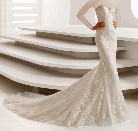 934c55407dde3 فساتين زفاف من تصميم روزا كلارا 2018 - بوابة وادي فاطمة الالكترونية