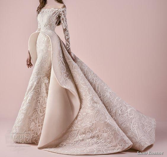 6613eece4 فساتين زفاف راقية من تصميم سعيد القبيسي 2018 | المرسال