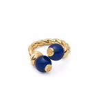 خاتم بفص أزرق - 545704