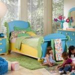 غرف نوم اطفال 2018 بسريرين