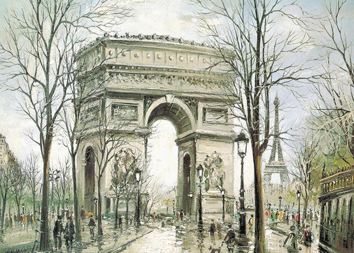 التاريخ لوحة-باريس-المحصنة.j
