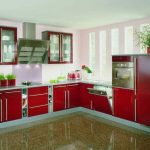 مطبخ ألوميتال أحمر - 545807