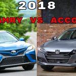 مقارنة بين هوندا اكورد 2018 و تويوتا كامري 2018