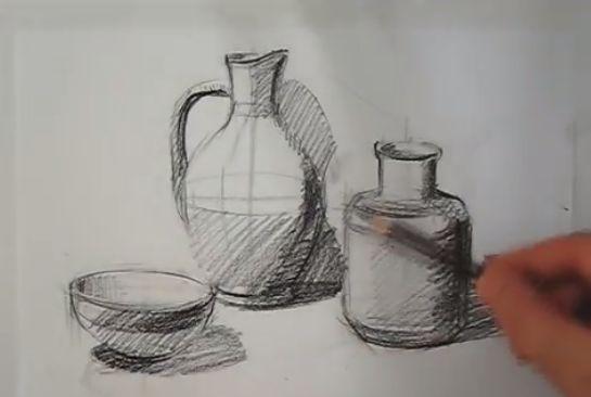 شرح رسم اواني شعبية بالصور المرسال