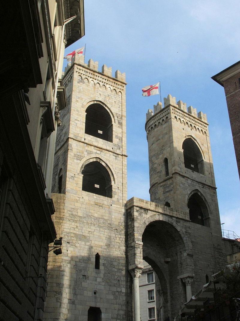 جدران العصور الوسطى في جنوة الايطالية