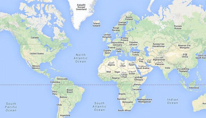 اول من رسم خريطة العالم مقالات