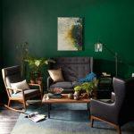 روعة اللون الأخضر و الرمادي في غرف المعيشة