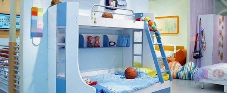 غرف نوم اطفال بسريرين للمساحات الصغيرة | المرسال