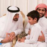 الشيخ محمد بن زايد ال نهيان يحقق امنية ابن الشهيد