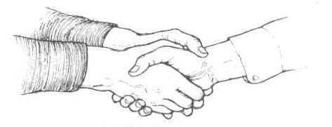 معلومات عن لغة مصافحة اليد ودرجاتها بالصور التصافح-بكلتا-اليدين