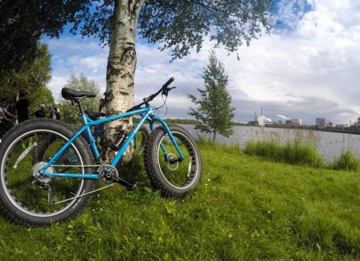 الدراجات في لوليو - مدينة لوليو السويدية