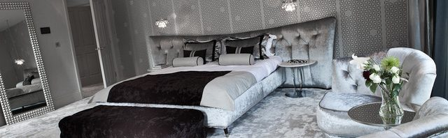 06e937ad0 غرف نوم عصرية باللون الفضي | المرسال
