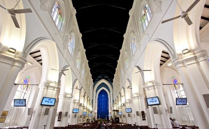 القديس أندروز - السياحة في الحي المدني بسنغافورة