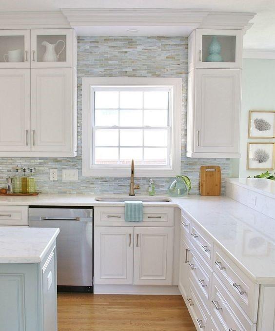 أحدث أشكال المطابخ باللون الأبيض %D9%85%D8%B7%D8%A8%D